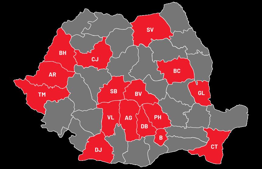 Harta Sucursale Skuba Romania